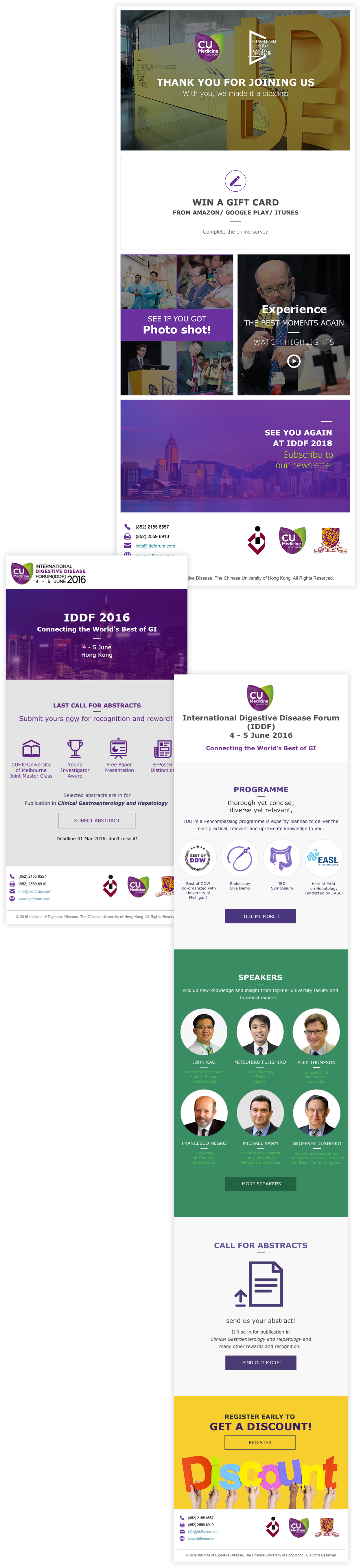International Digestive Disease Forum (IDDF) Enewsletter, CUHK