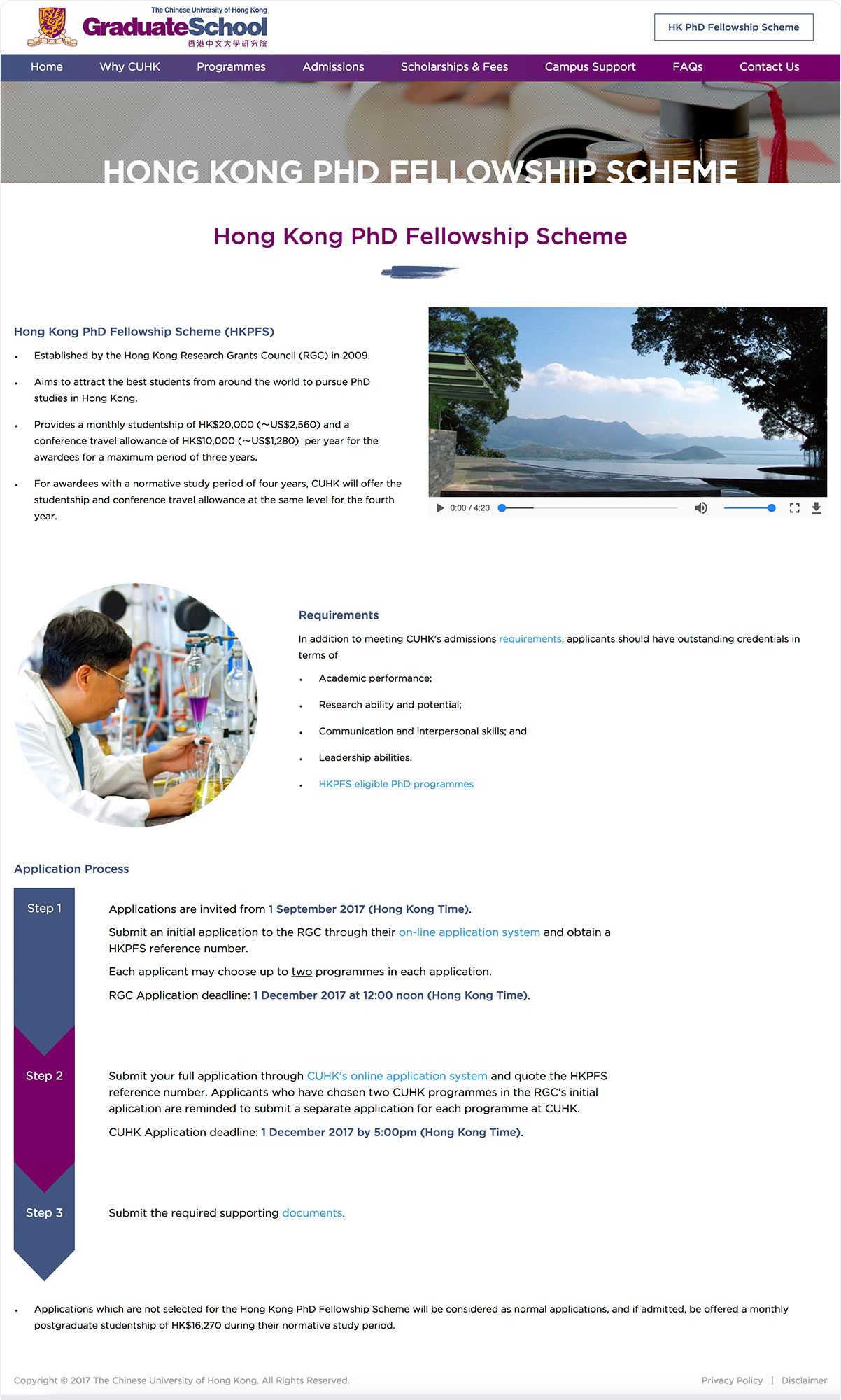 CUHK Graduate School | Postgraduate Admissions
