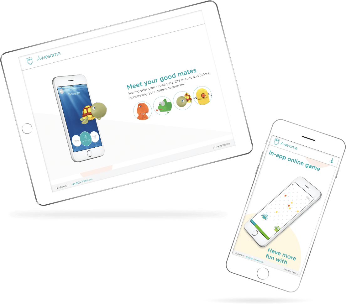 AwesomePlus Mobile App Website