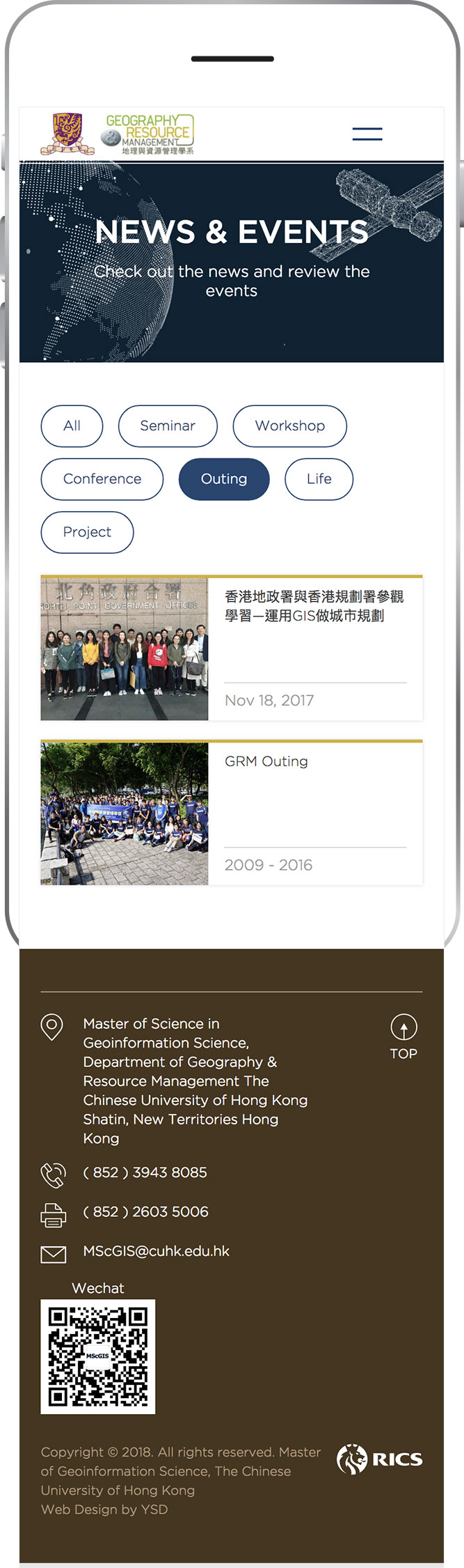 Master of Geoinformation Science, CUHK